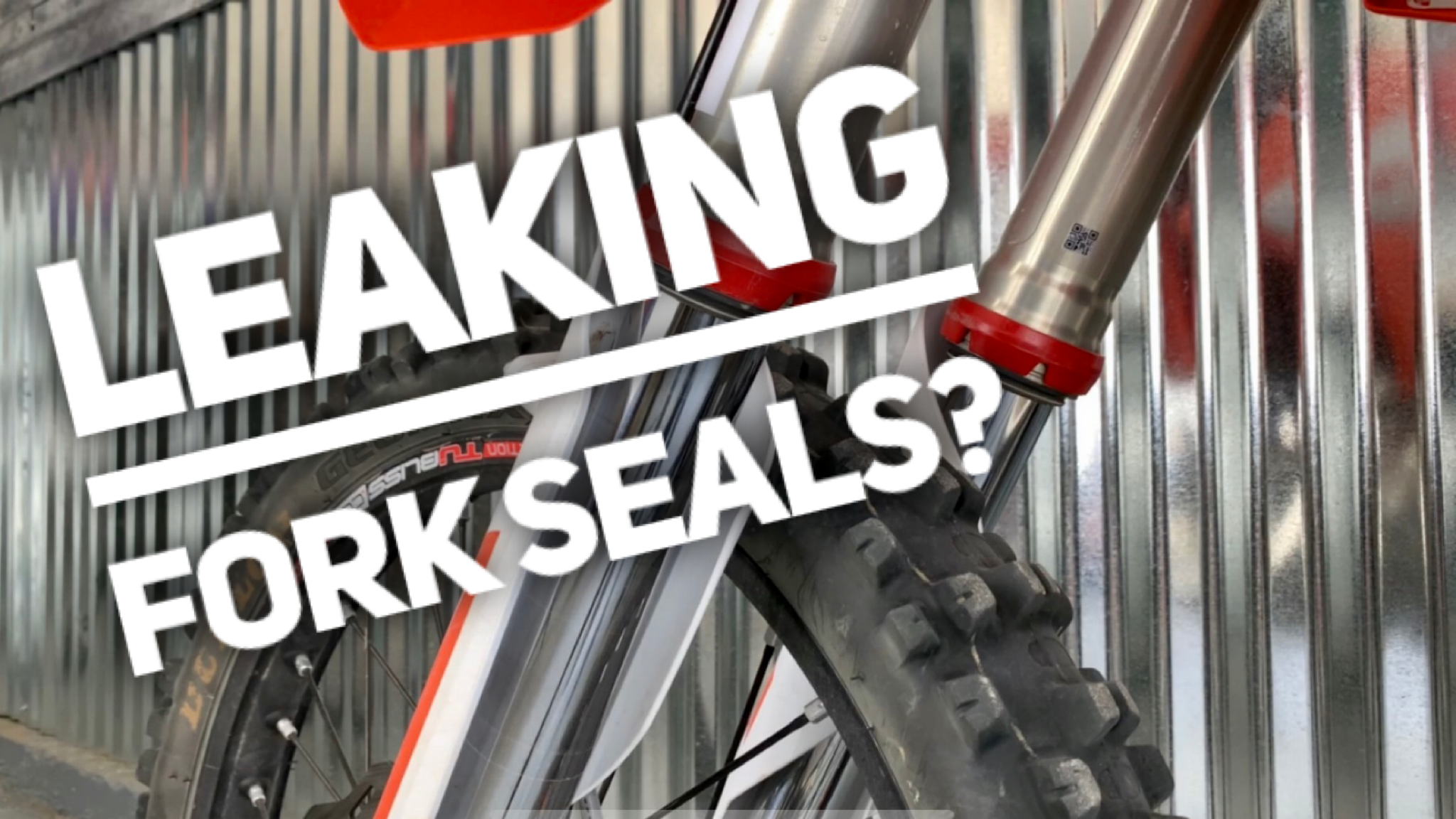How to fix leaking fork seals on your Dirt Bike