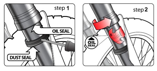 how to fix dirt bike leaking oil seals
