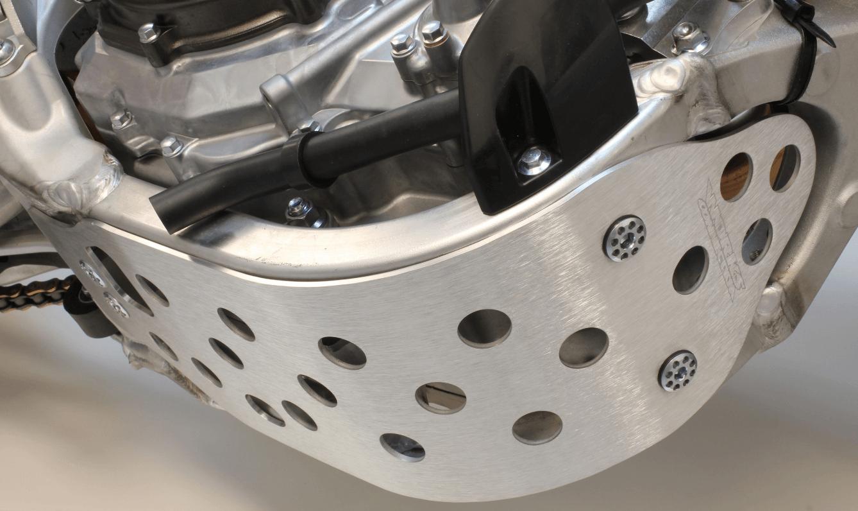 Works Connection Aluminium skid plate on Yamaha YZ250